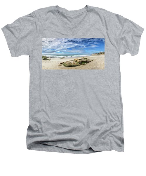Men's V-Neck T-Shirt featuring the photograph Surrounded By Beauty by Peter Tellone