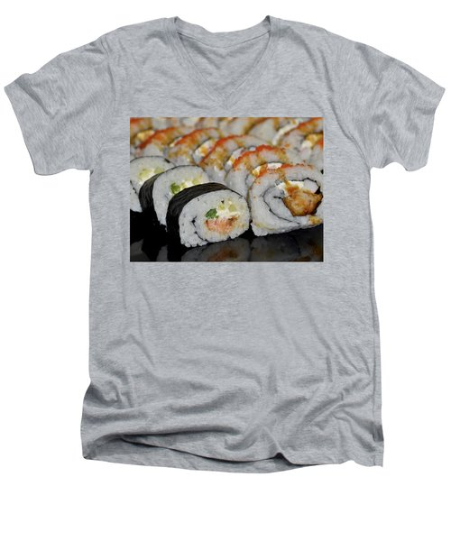 Sushi Rolls From Home Men's V-Neck T-Shirt