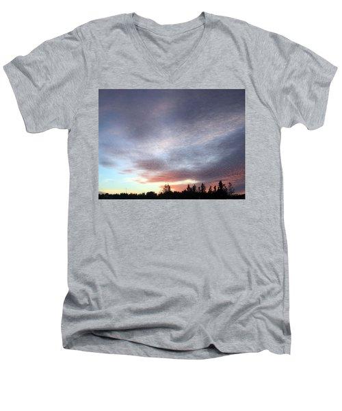 Suspenseful Skies Men's V-Neck T-Shirt by Audrey Robillard
