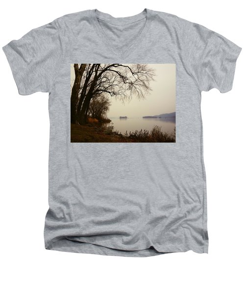 Susquehanna River Near Veterans Memorial Bridge Men's V-Neck T-Shirt