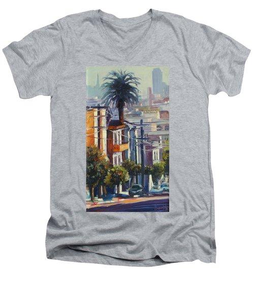 Post Street Men's V-Neck T-Shirt by Rick Nederlof