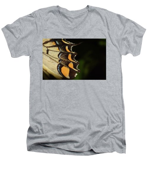 Swallowtail Butterfly Wing Men's V-Neck T-Shirt