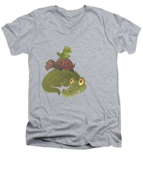 Swamp Squad Men's V-Neck T-Shirt