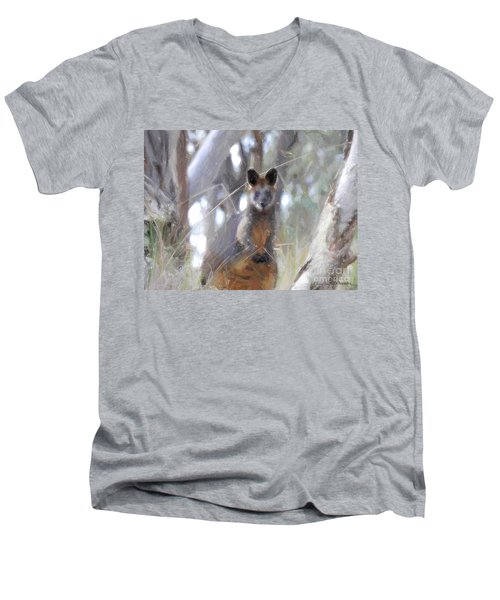 Swamp Wallaby Men's V-Neck T-Shirt