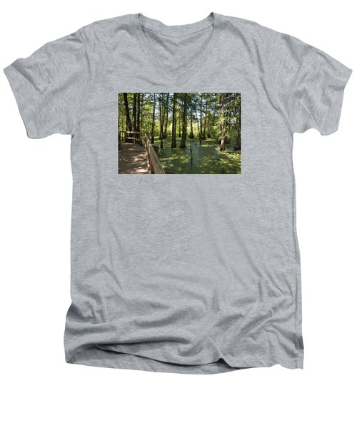 Swamps Men's V-Neck T-Shirt by Helen Haw