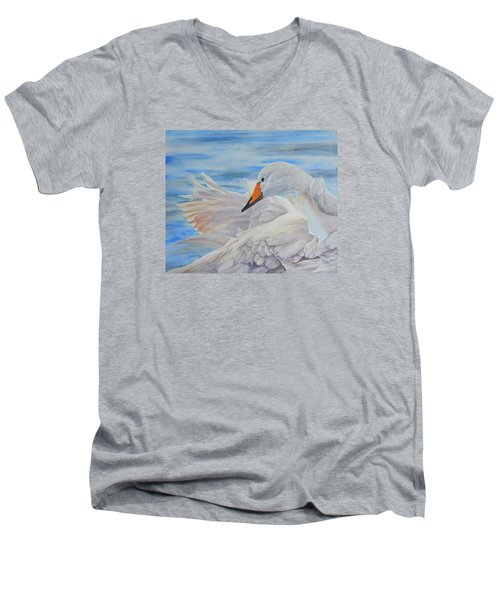 Swan Lake Men's V-Neck T-Shirt