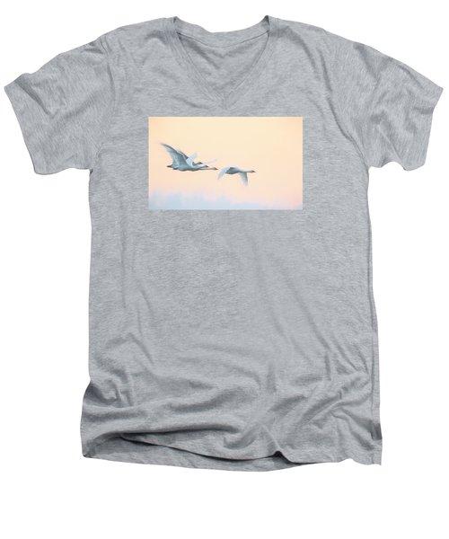 Swan Migration  Men's V-Neck T-Shirt