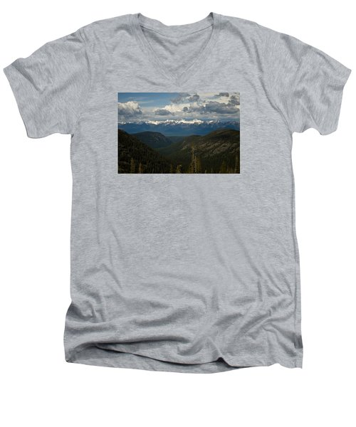 Swan Mountain Range Men's V-Neck T-Shirt