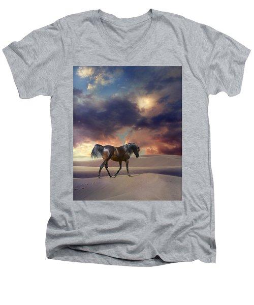 Swan Of Desert Men's V-Neck T-Shirt