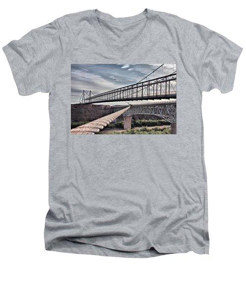 Swayback Suspension Bridge Men's V-Neck T-Shirt
