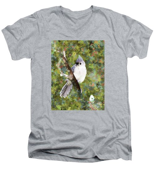 Sweet And Endearing Men's V-Neck T-Shirt by Tina  LeCour