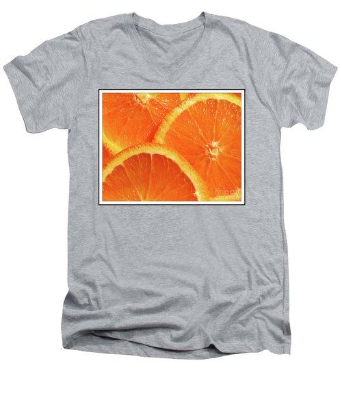 Sweet And Juicy Men's V-Neck T-Shirt by Mariarosa Rockefeller