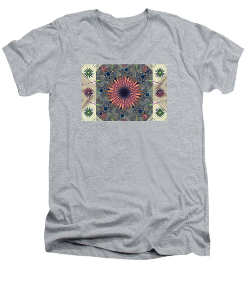 Sweet Daisy Chain Men's V-Neck T-Shirt by Jim Pavelle