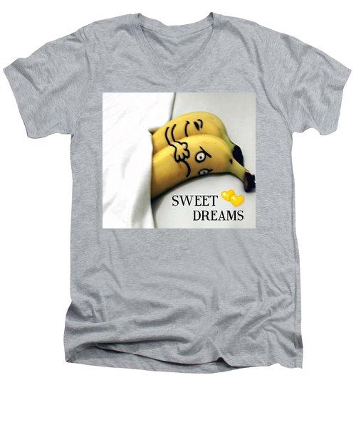 Sweet Dreams Men's V-Neck T-Shirt by Sheila Mcdonald