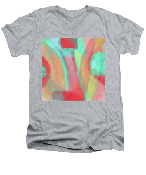 Men's V-Neck T-Shirt featuring the digital art Sweet Little Abstract by Susan Stone