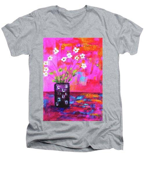 Sweet Little Flower Vase Men's V-Neck T-Shirt