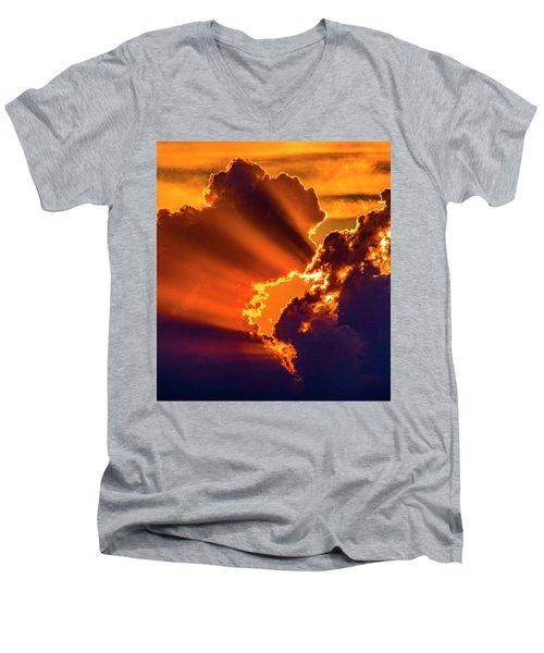 Sweet Nebraska Crepuscular Rays 010 Men's V-Neck T-Shirt