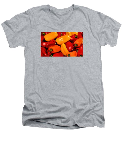 Sweet Peppers Men's V-Neck T-Shirt by Pat Cook