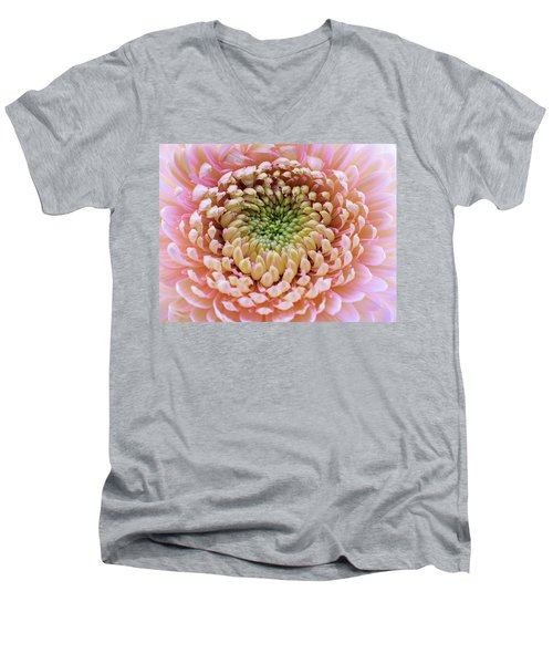 Sweet Pink Gerber Men's V-Neck T-Shirt