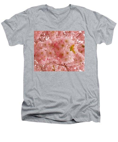 Sweet Pink- Holmdel Park Men's V-Neck T-Shirt