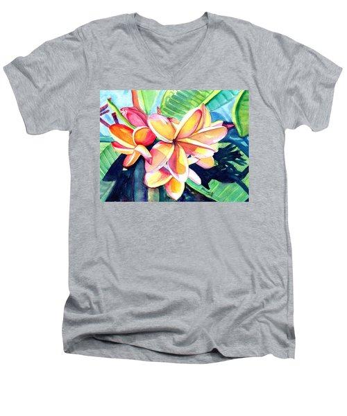Sweet Plumeria 2 Men's V-Neck T-Shirt