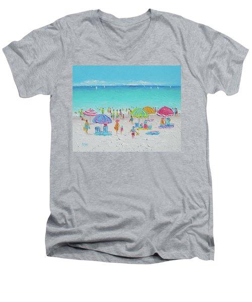 Sweet Sweet Summer Men's V-Neck T-Shirt by Jan Matson