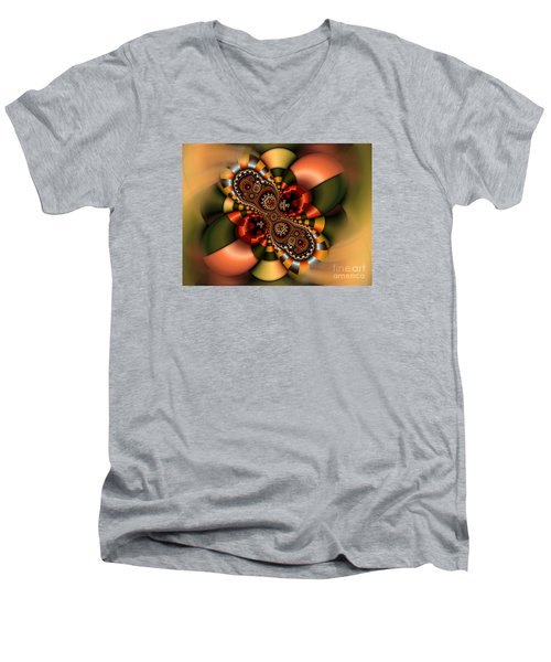Men's V-Neck T-Shirt featuring the digital art Sweets by Karin Kuhlmann