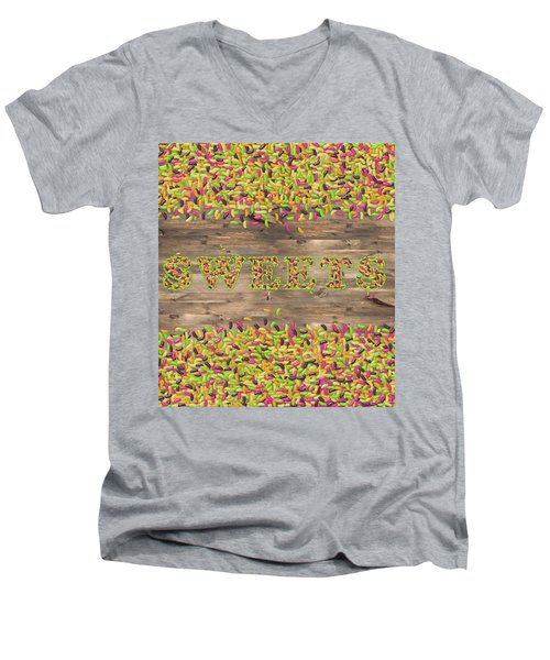 Sweets Men's V-Neck T-Shirt by La Reve Design