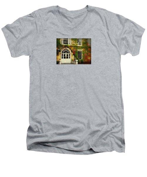 Swift Bar In Dublin Ireland Men's V-Neck T-Shirt by Robin Regan
