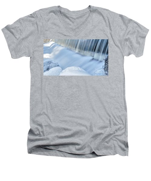 Swift River Reservation Petersham Massachusetts Men's V-Neck T-Shirt