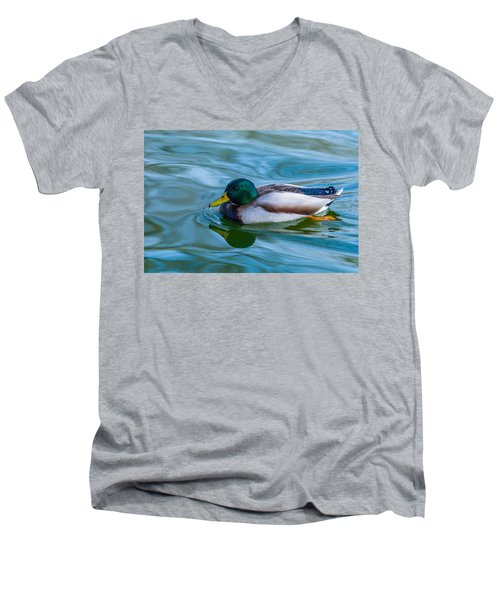 Swimming Duck Men's V-Neck T-Shirt