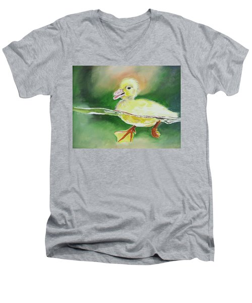 Swimming Duckling Men's V-Neck T-Shirt
