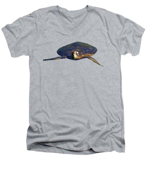 Swimming Turtle Men's V-Neck T-Shirt