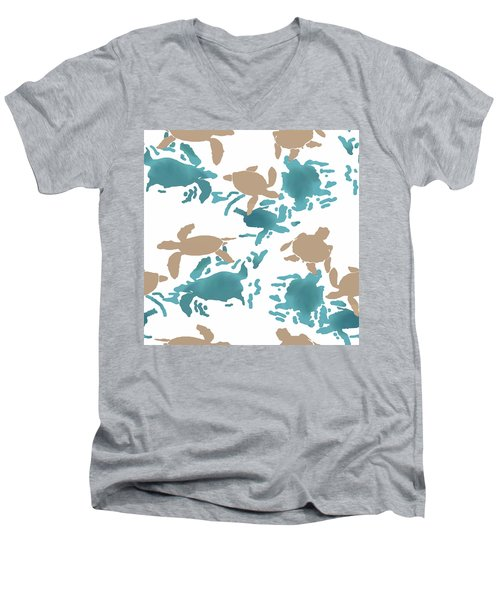 Swimming Turtles Men's V-Neck T-Shirt