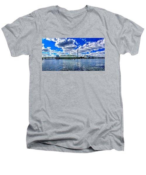 Swing Bridge Heaven Men's V-Neck T-Shirt