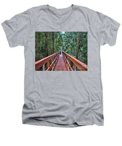 Swing Bridge Men's V-Neck T-Shirt by Trena Mara
