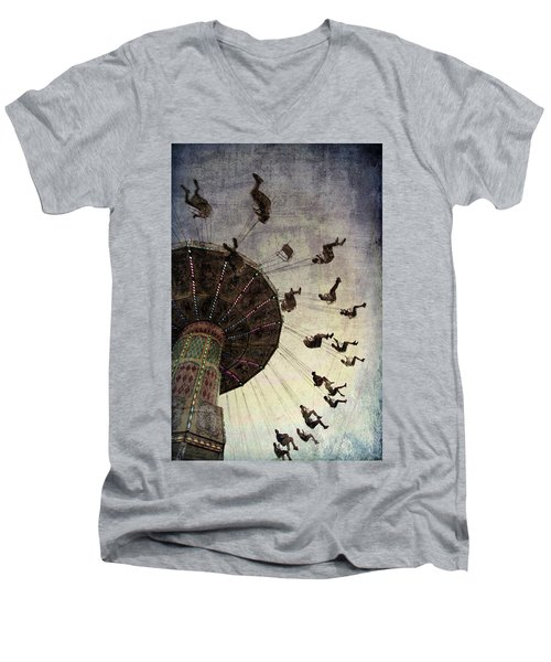 Men's V-Neck T-Shirt featuring the photograph Swirling.... by Russell Styles