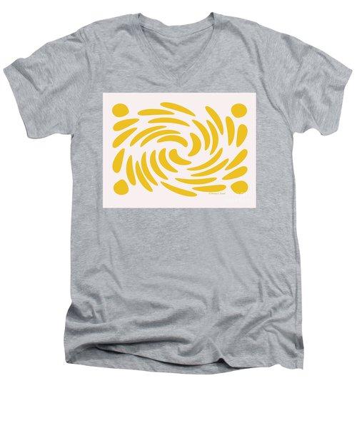 Swirls N Dots S3 Men's V-Neck T-Shirt