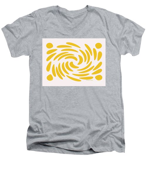 Swirls N Dots S3 Men's V-Neck T-Shirt