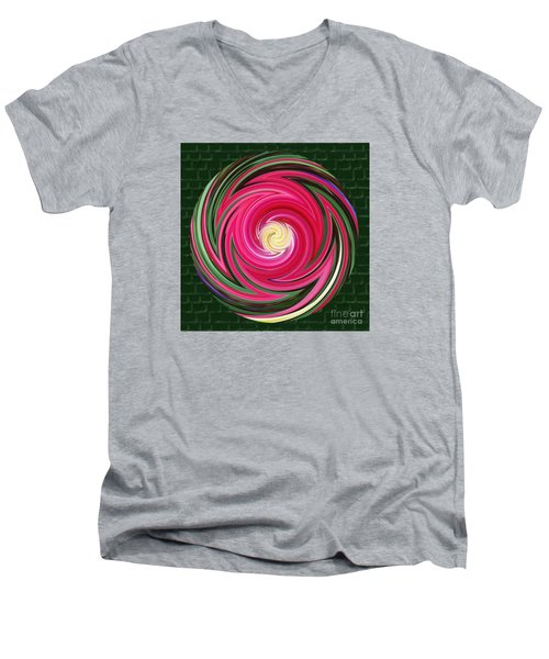 Swirls Of Color Men's V-Neck T-Shirt by Sue Melvin