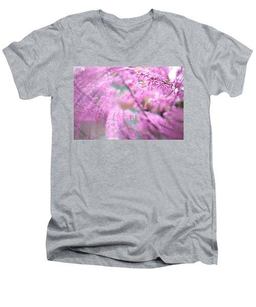 Swirls Of Spring Men's V-Neck T-Shirt