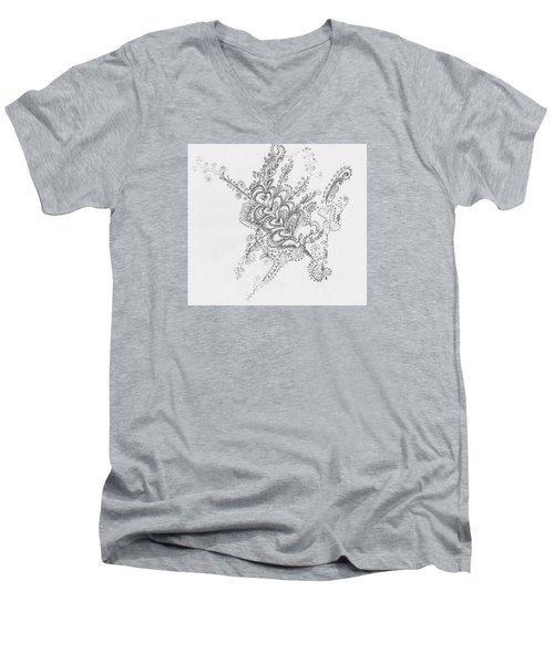 Swirls Men's V-Neck T-Shirt
