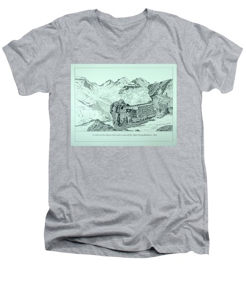Swiss Alpine Cabin Men's V-Neck T-Shirt