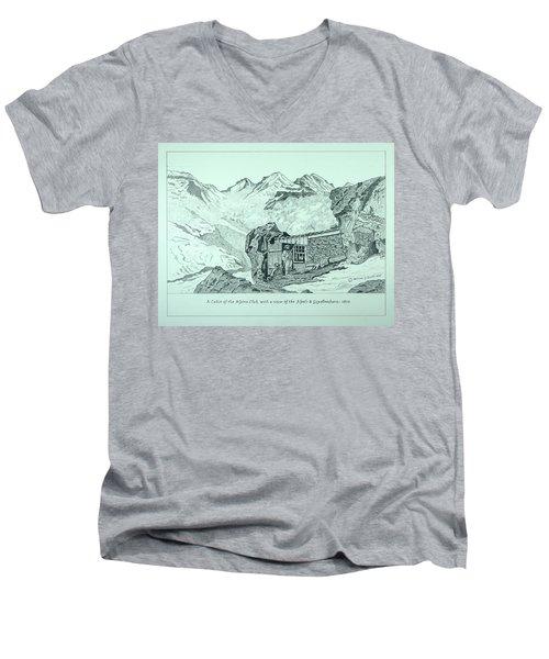 Swiss Alpine Cabin Men's V-Neck T-Shirt