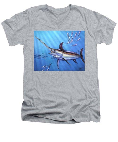 Swordfish In Freedom Men's V-Neck T-Shirt