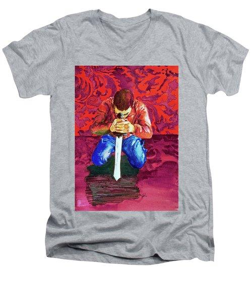 Swords On The Playground Men's V-Neck T-Shirt