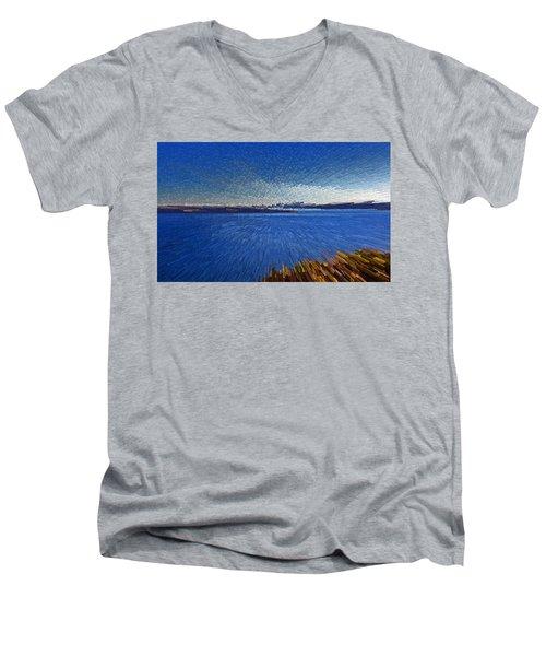 Sydney From North Head Men's V-Neck T-Shirt