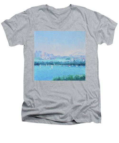 Sydney Harbour And The Opera House Men's V-Neck T-Shirt