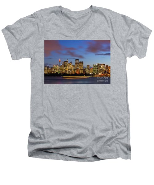 Sydney Harbour Sunset Men's V-Neck T-Shirt