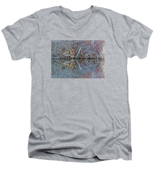 Men's V-Neck T-Shirt featuring the photograph Symmetry by Christian Mattison